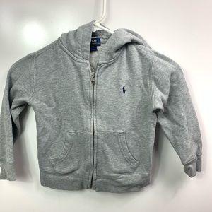 Polo Ralph Lauren zip up hoodie sweatshirt kids 4t